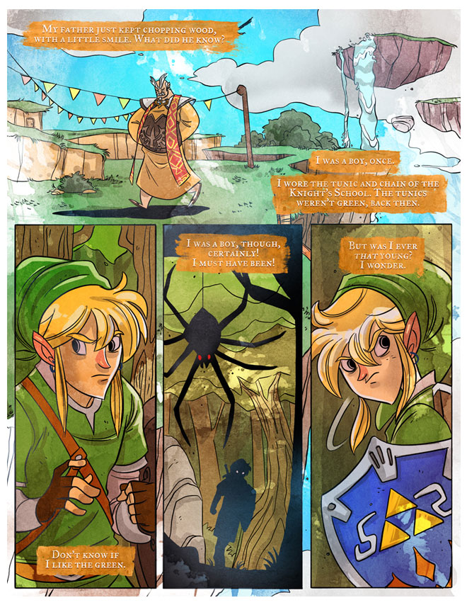 The Third Page Nintendo Skyward Sword Comic Drawn Author thumb
