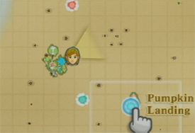 Pumpkin Landing Map (Skyward Sword Lost Child Quest)