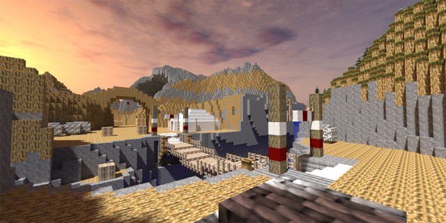 Gerudo Valley in Minecraft