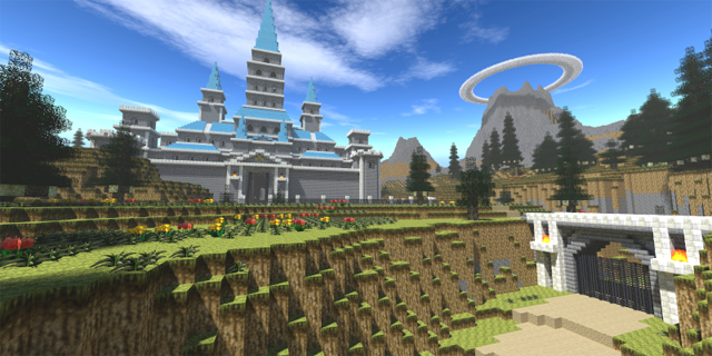 Hyrule Castle in Minecraft