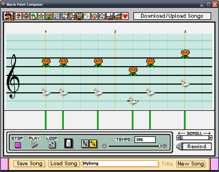 Mario Paint Composer Screenshot