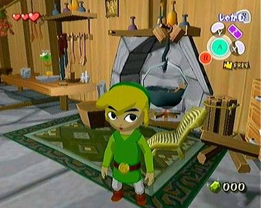 The wind waker screenshots link 39 s house wii zelda for Housse zelda