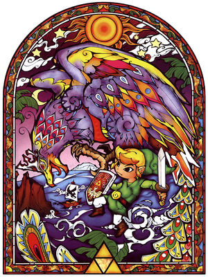 Wind Waker Stained Glass Link Amp Bird