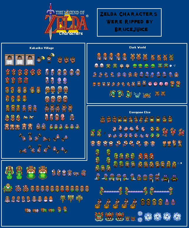 A Link to the Past Sprites - Characters