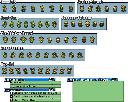 A Link to the Past / Alttp Sprites / Sprite Sheets