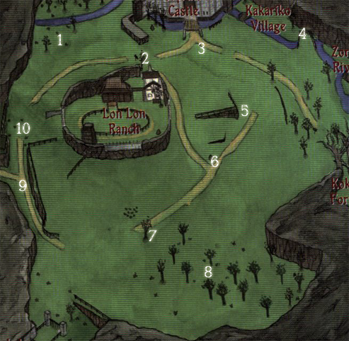 Ocarina of Time Big Poes Map